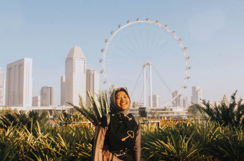 singapore flyer garden by the bay